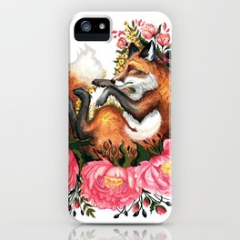 Flora and Fauna Fox iPhone Case