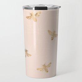 Busy Bees (Pink) Travel Mug