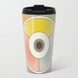 The theory of colouring - Diagram of colour by J. Bacon, 1866, Remake, vintage wash (no text) Travel Mug