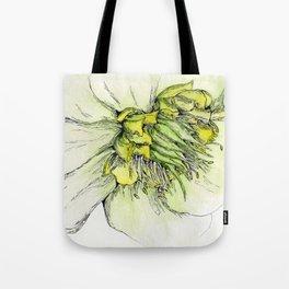 Watercolor Helleborus Tote Bag