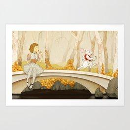 Follow the Rabbit Art Print