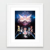 madoka magica Framed Art Prints featuring Madoka Magica by Yiji