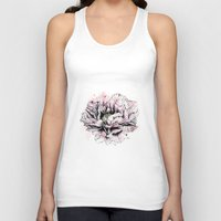 peony Tank Tops featuring Peony  by EllaJohnston Art & Illustration