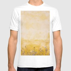 Vintage Wall MEDIUM White Mens Fitted Tee