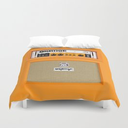 Bright Orange color amplifier amp Duvet Cover