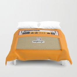 Bright Orange color amplifier amp Duvet Cover