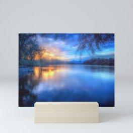 The Last Light sunset on the Sacramento River Mini Art Print