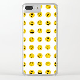Cute Emoji pattern Clear iPhone Case