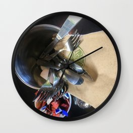 Cafe Cutlery Wall Clock