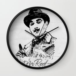 Mr Red's Poirot Wall Clock