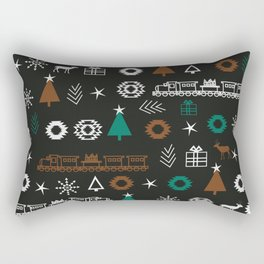Christmas Eve pattern Rectangular Pillow