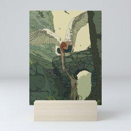 The Angel and Fawn Mini Art Print