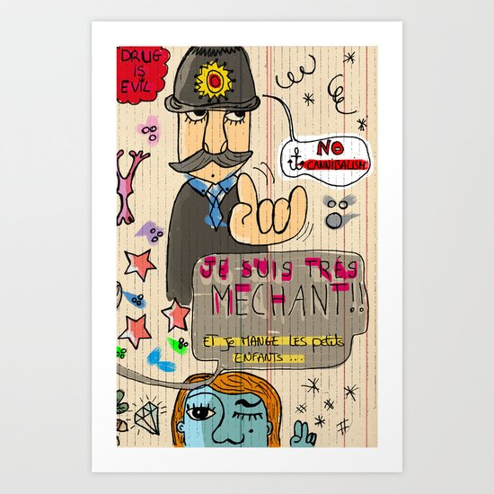 Méchant Art Print