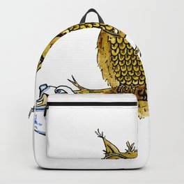 Overly Caffeinated Owl Backpack