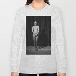 Silent - Nude woman in fetish scene Long Sleeve T-shirt
