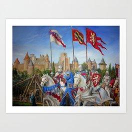siege of carcassonne cs Art Print