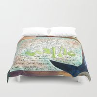 seattle Duvet Covers featuring Seattle by Mary Klump Studio