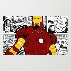 Iron Man Comic Rug