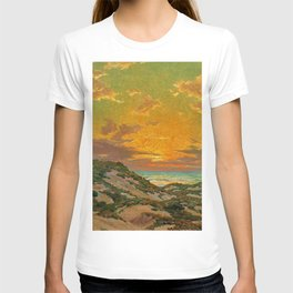 Sunset amid the Dunes by Granville Redmond T-shirt