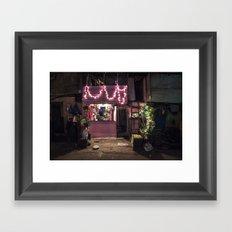 Divali Lights - Mahalaxmi, Mumbai, India Framed Art Print