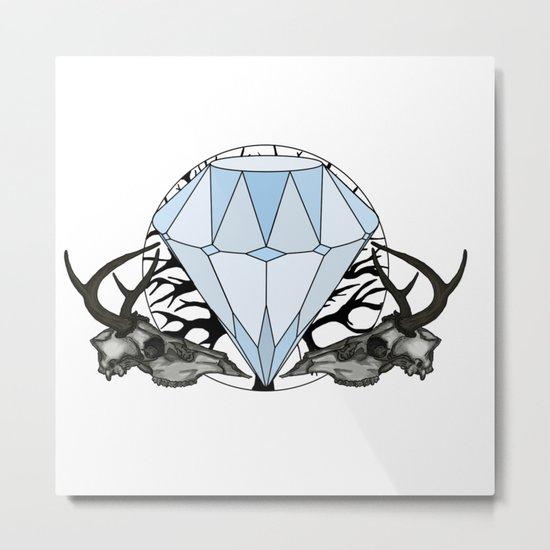 Diamond and skulls Metal Print