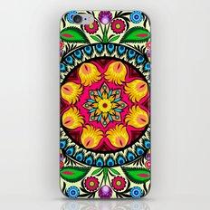 folk flowers collage iPhone & iPod Skin