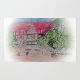 Rathaus der Stadt Bobingen Aquarell Rug