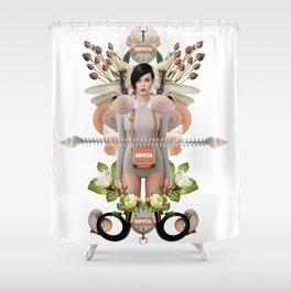 Nude Flowers by Lenka Laskoradova Shower Curtain