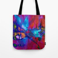 secret life Tote Bags featuring Secret Life by Stephen Linhart