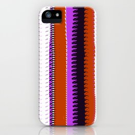Rust and Purple Indian Blanket Design iPhone Case