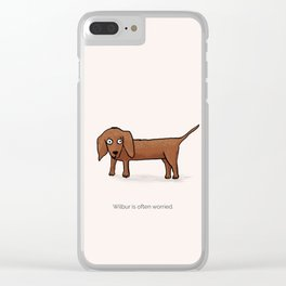 Wilbur the dog Clear iPhone Case