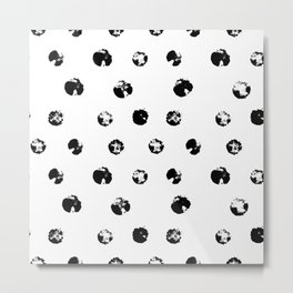 Textured Dots - White Background Metal Print