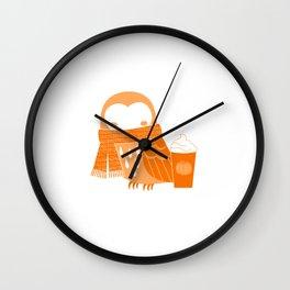 Owl Always Love Pumpkin Spice Lattes Wall Clock