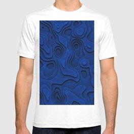 Dark Ocean Blue Relief T-shirt