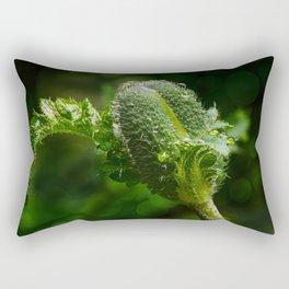 Poppy bud Rectangular Pillow