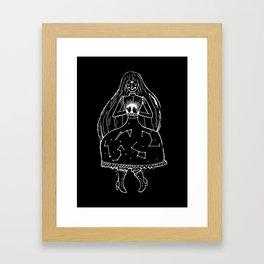 The Clairvoyant (black) Framed Art Print