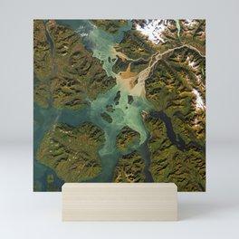 Stikine River estuary, Alaska Mini Art Print