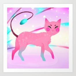 Colourful Cat Art Print