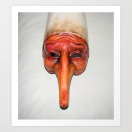 Mask quirky Art Print