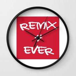 Remix 4ever Wall Clock