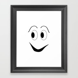 Funny face Framed Art Print