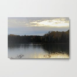 Downeast Autumn Reflections of Scattered Illuminations Metal Print