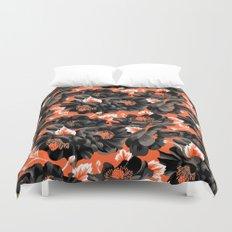 Mount Cook Lily - Orange/Black Duvet Cover