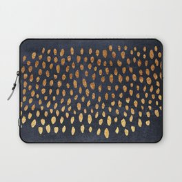 Pattern Play / Navy & Gold Laptop Sleeve