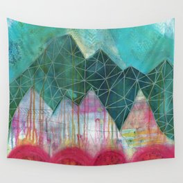 Mountain Winter Solstice Wall Tapestry