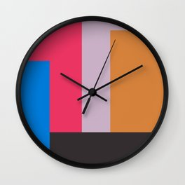 Painted Blocks Wall Clock