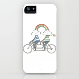Love makes life a beautiful ride iPhone Case
