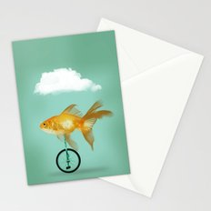 unicyle goldfish III Stationery Cards