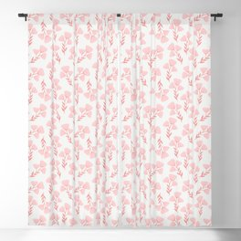 Pink roses print - soft pink palette  Blackout Curtain