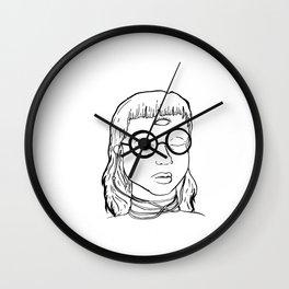 Third-eye Girl Wall Clock